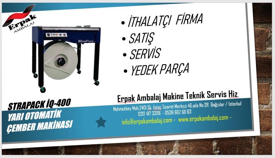Strapack İQ400 Çember Makinası Satış & Servis & Yedek Parça